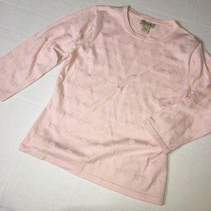 Banana Republica pink dots top silk blend EUC (S)